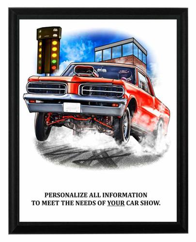 Car Show Drag Race Plaque