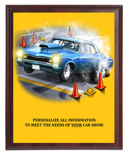Muscle Car Show Plaque