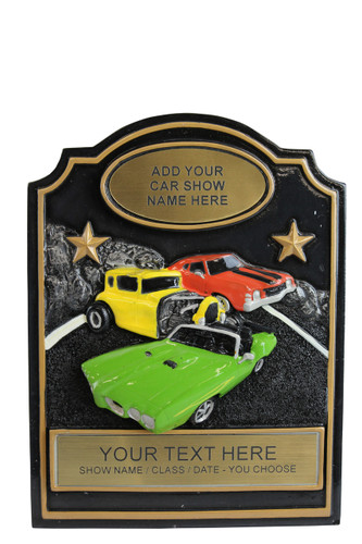 COMPLETED EXAMPLE OF THE TRIO CAR SHOW RESIN