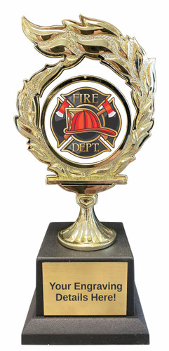 Firefighter Flame Trophy