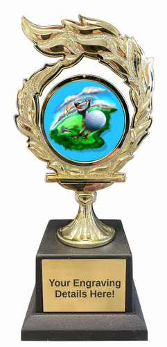 Golf Flame Trophy