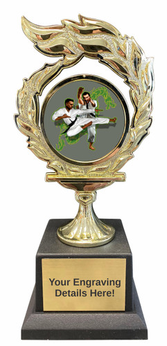 Martial Arts Flame Trophy