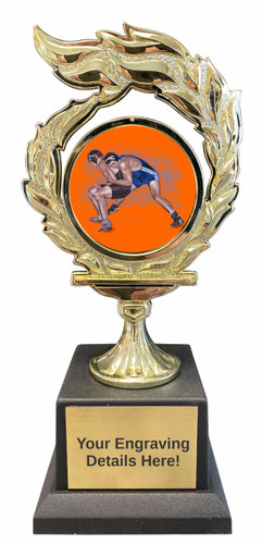 Wrestling Flame Trophy