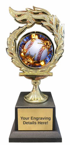Baseball Flame Trophy