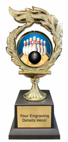 Bowling Flame Trophy