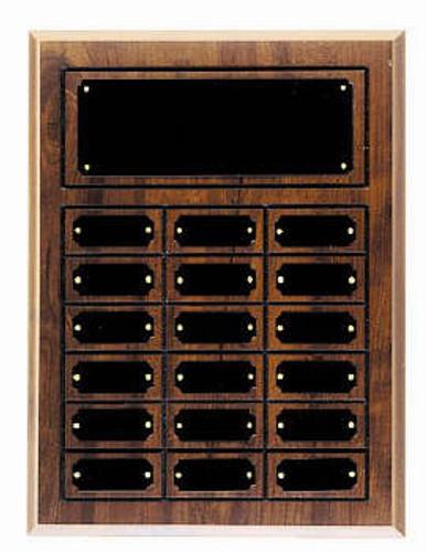 Cherry finish 12x15 plaque 18 1 x 2 1/2 plates