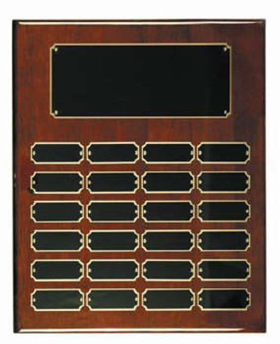 Rosewood piano finish 12x15 plaque 24 1 x 2 1/2 plates