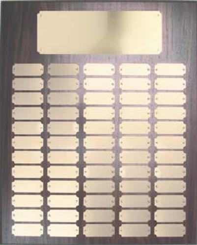 Walnut finish 16x20 plaque 60 1 x 2 /1/2 plates