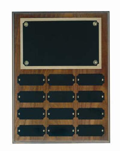 Genuine walnut 9x12 plaque 12 1x2 1/2 plates