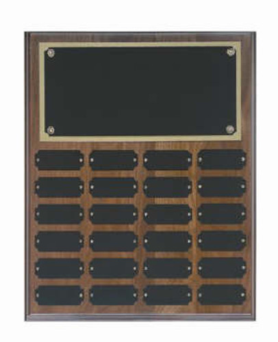 Genuine walnut 12x15 plaque 24 1 x 2 1/2 plates
