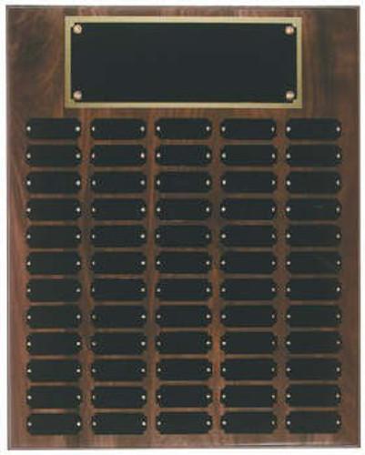 Genuine walnut 16x20 plaque 60 1 x 2 1/2 plates