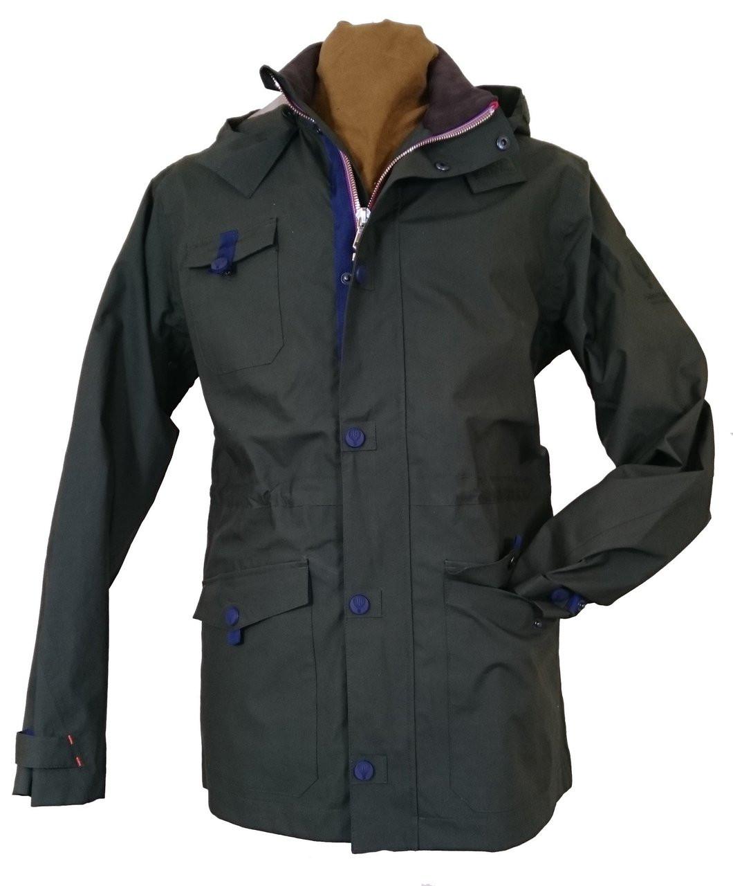 71533837b Mens 'Southey' Green Waterproof Jacket   English Utopia