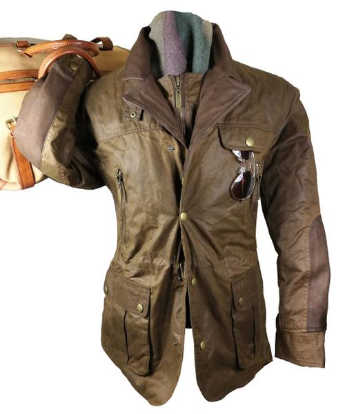 Mens 'Ivanhoe De Luxe' Brown Waxed Jacket