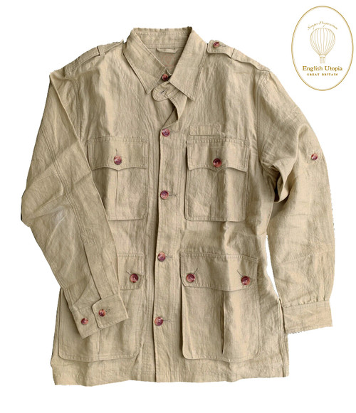 Avedon - Linen Cotton Travel Safari Jacket