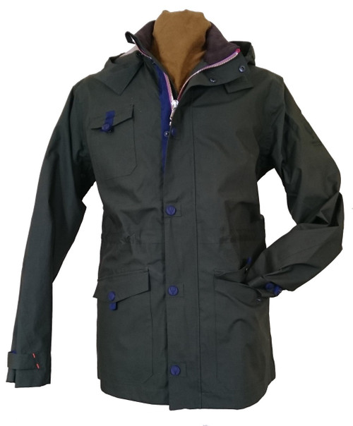 Mens 'Southey' Green Waterproof Cotton Jacket