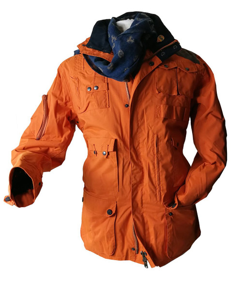 Mens 'The Sir Arnold' Orange Mountain & Ski Jacket