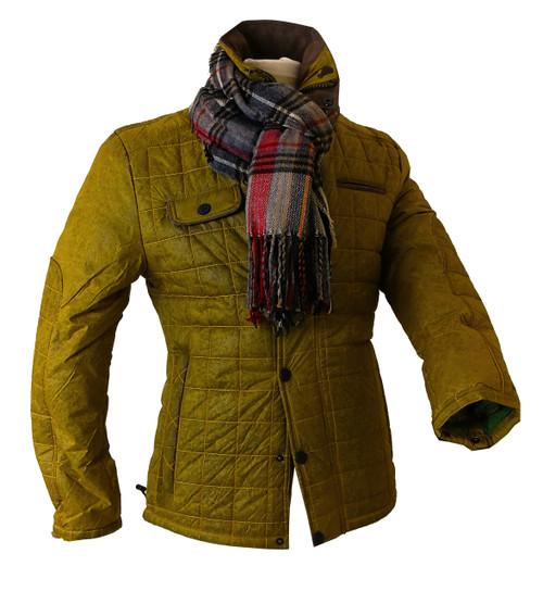 Mens 'Puck' Luxury Vintage Finish Quilt Jacket