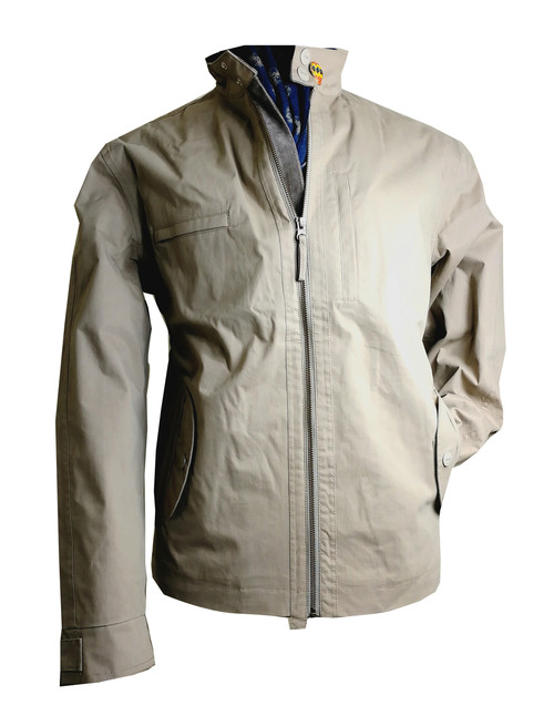 Mens 'Bengy' Cream Waterproof Cotton Jacket