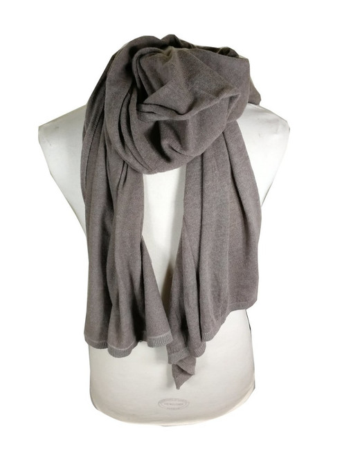 'Maglia' Brown Cashmere Wool Scarf