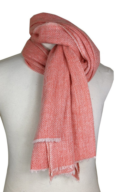 'Hello' Orange Cashmere Wool Scarf