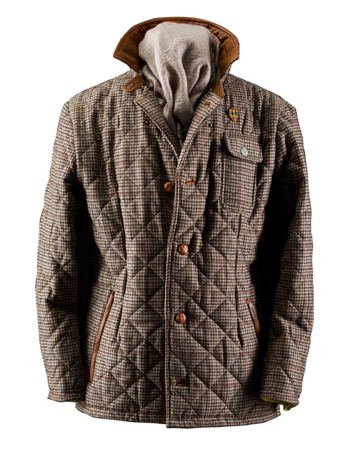 Mens 'Stanley' Tweed Quilt Wool Jacket