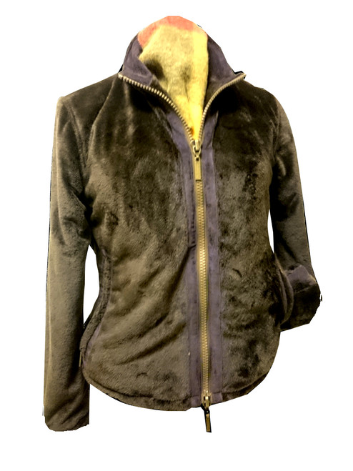 Womens 'Freya' Brown Faux Fur Fleece