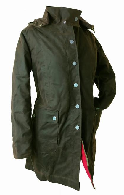 Womens 'Titania' Luxury 3/4 Wax Coat