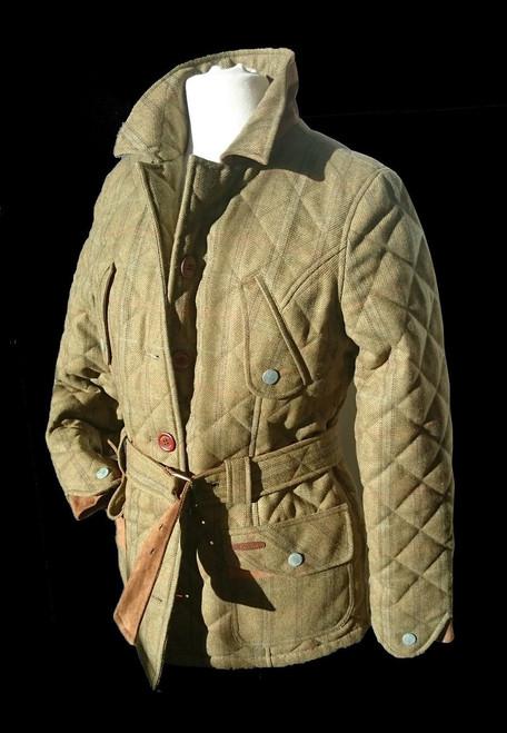 Womens size S and L 'Reynardine' Khaki Tweed Quilt Jacket was £279