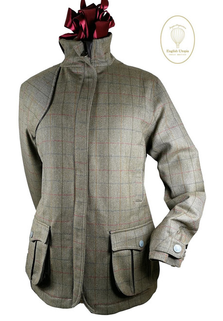 Womens 'Guinevere' Brown Tweed Waterproof Coat