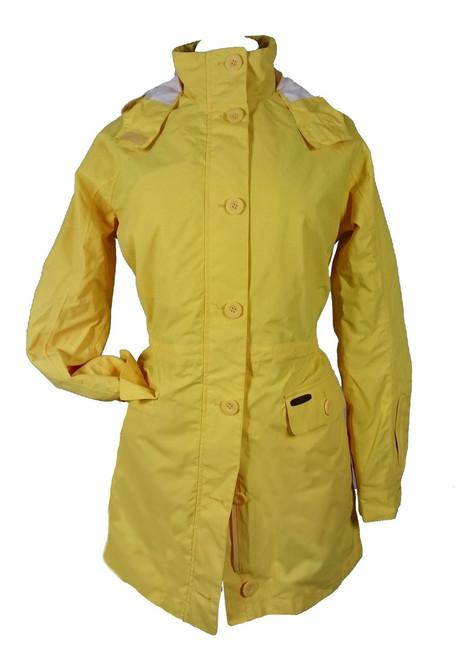 Womens size M (12) Yellow Luxury Cotton Rainproof Mac was £240
