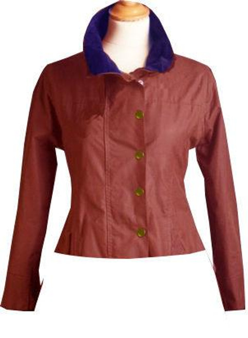 Womens 'Shortie' Red Waxed Jacket