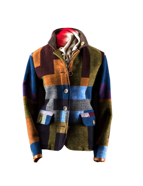Womens 'Frige' Woolen Patchwork Jacket