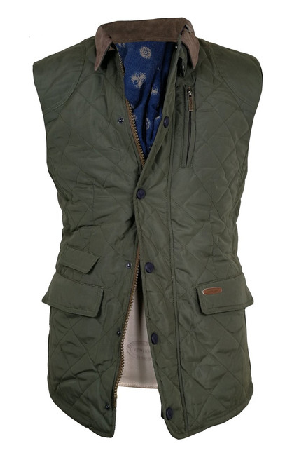 Mens 'A.L. Morton' Quilted Gilet Bodywarmer