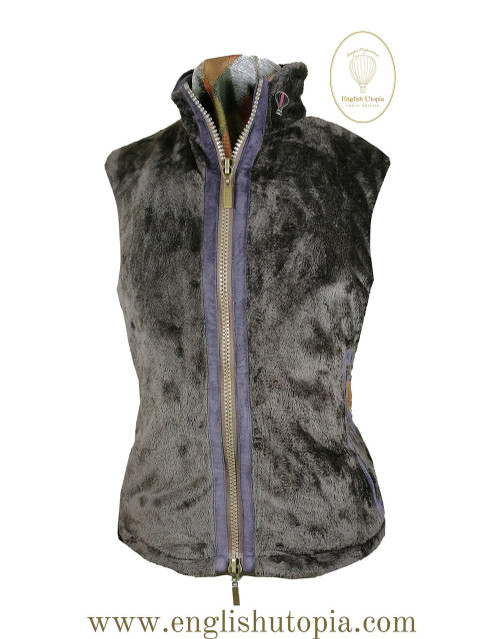 Womens 'Freya' Brown Faux Fur Bodywarmer