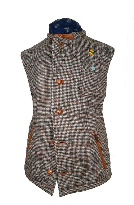Mens 'Stanley' Tweed Quilt Wool Gilet