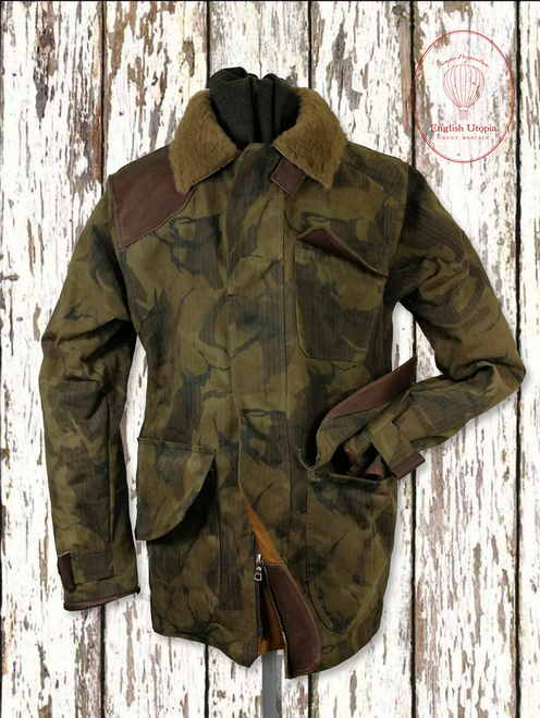 Mens 'Lancelot' Army Print Lightly Waxed Jacket