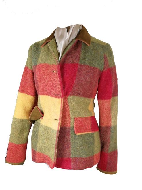 Womens 'Gentle Annie' Woolen Check Jacket