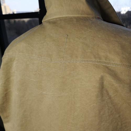 Mens Vintage Effect Luxury Canvas Work Jacket