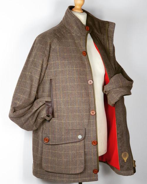 Mens Waterproof Loden Jacket Lambswool Lined