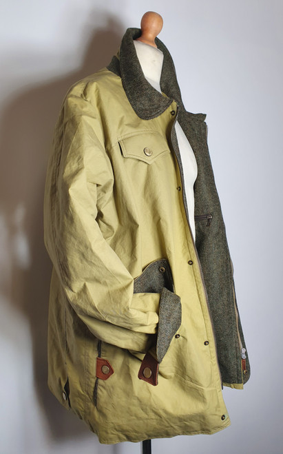 Havelock waterproof  Canvas jacket lined with tweed  lining