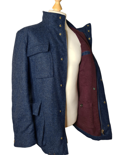 The Wyreman Extra Fine Merino Wool Coat with Lambswool lining