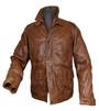 Mens 'Robin Hood' Luxury Brown Leather Jacket