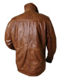 Mens 'Robin Hood' Luxury Brown Leather Jacket
