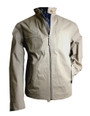 Mens 'Bengy' Cream Waterproof Cotton Jacket