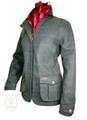 Womens 'Guinevere' Grey Tweed Waterproof Coat