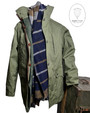 Mens 'Stormer' Double Layer Cotton Jacket with Button out Thermal