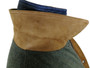 Under Collar in Nappa Suede from Portofino of Italy. ZigZag stitched