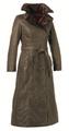 Womens 'Rosetti' Full Length Waxed Coat Faux Fur lined
