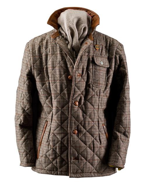 Mens Stanley Tweed Quilt Wool Jacket English Utopia