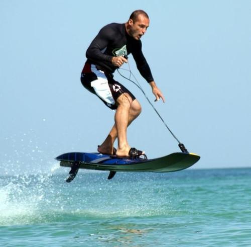 JetSurf a Jet Powered Surfboard. No wave? No problem!